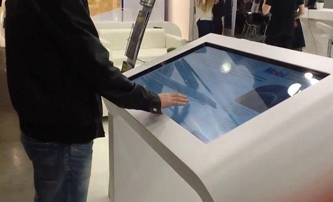 Angled Touchscreen Kiosk