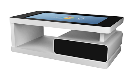 Multitouch Tables And Kiosks 7 Mtct 42 Hd Black Multi Touch Coffee Table With Adjustable Screen