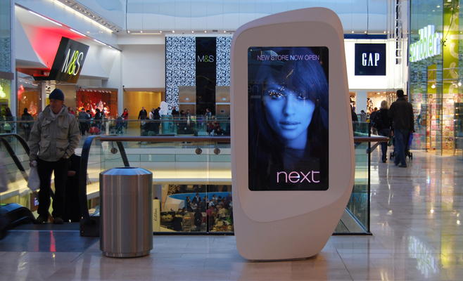 Shopping Center Touch Digital Signage
