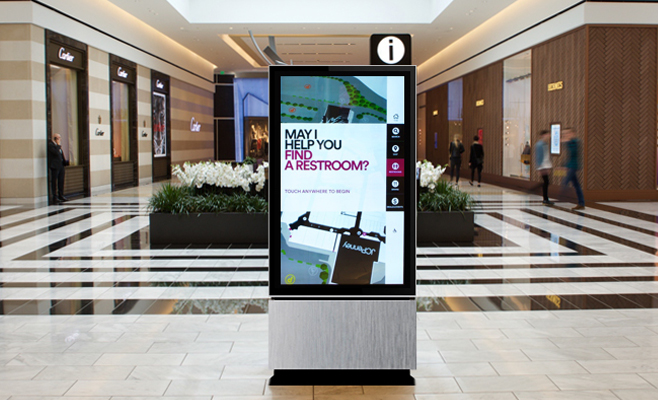 Shopping Mall Standing LCD Digital Signage