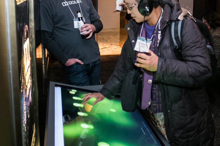 Adjustable View Touch Table