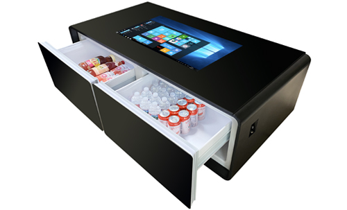 7 Sct 32 Smart Home Touch Table With 2 Cooler Drawers Bluetooth Sound And Wireless Charging Multitouch Tables And Kiosks
